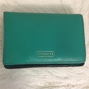 Authentic Coach Saffiano Leather Wallet
